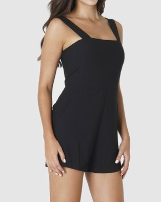 Amelius Victoria Playsuit - Jumpsuits & Playsuits (Black)