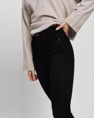 Love and Nostalgia Joan Hi Rise Skinny Cropped Jeans - Crop (Coal Black)