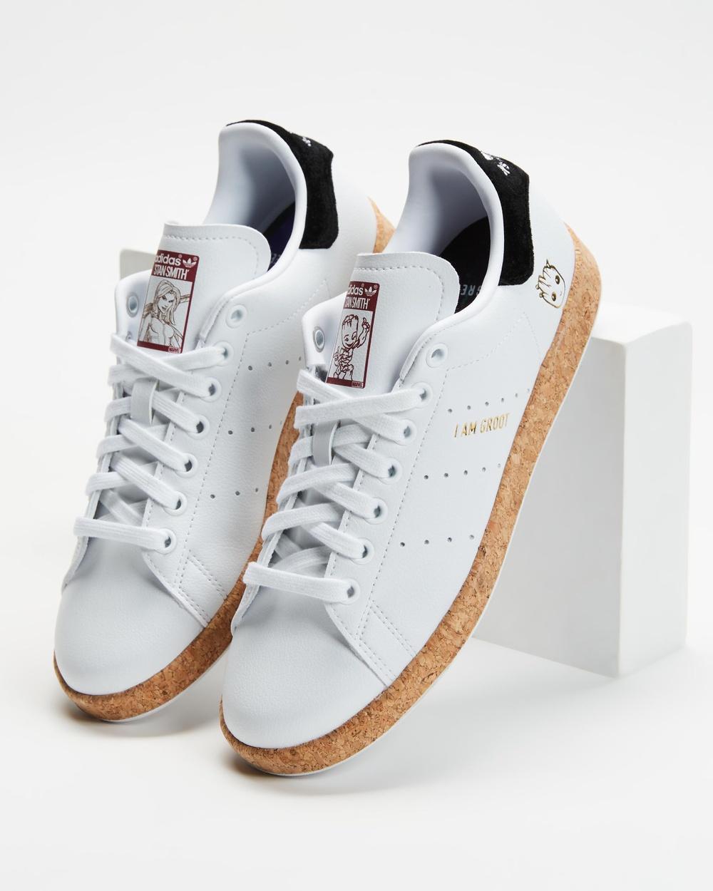 adidas Originals Stan Smith x Disney Groot & Gamora Unisex Lifestyle Sneakers Footwear White, Pantone Pantone