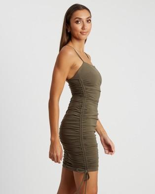 BWLDR Izabel Mini Dress - Bodycon Dresses (Khaki)