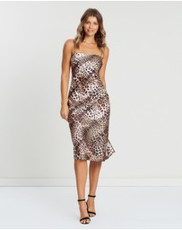 Atmos&Here - ICONIC EXCLUSIVE - Lana Leopard Midi Dress
