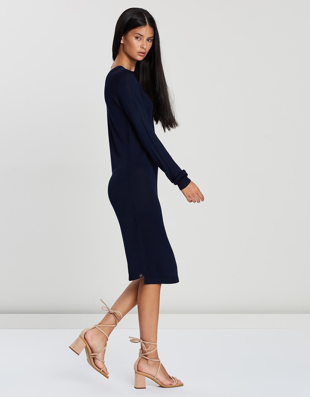 Maison Scotch - Knitted Dress With Ladder Tapes