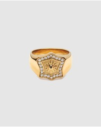 Nialaya Jewellery - Men's Shield Ring