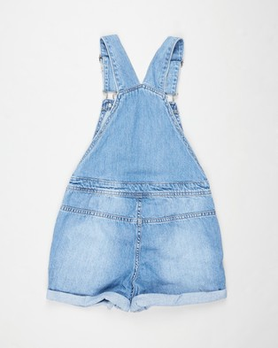 Free by Cotton On Sophie Denim Shortalls   Teens - Jumpsuits & Playsuits (Weekend Wash)
