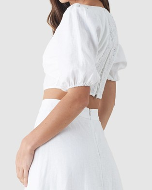 Amelius Violetta Crop Top - Cropped tops (White)