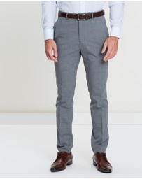 Burton Menswear - Checked Skinny Fit Stretch Trousers