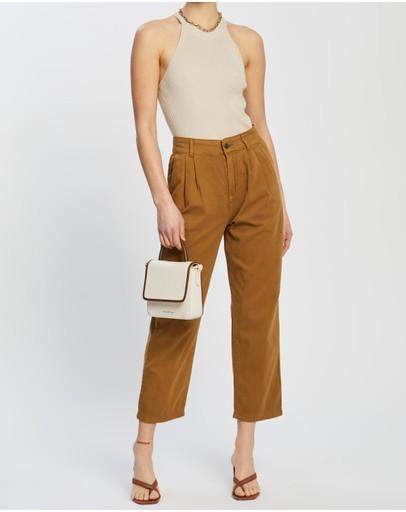 M.n.g Relax Trousers Medium Brown