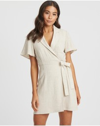 The Fated - Rewind Utility Wrap Dress
