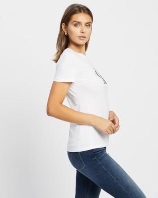 Calvin Klein - Core Monogram Logo T Shirt Short Sleeve T-Shirts (BRIGHT WHITE) T-Shirt