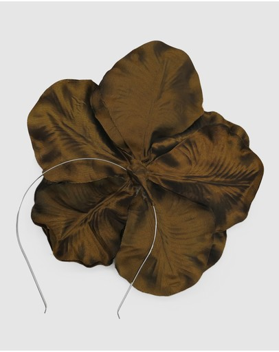 Morgan & Taylor Zayna Flower Fascinator Gold