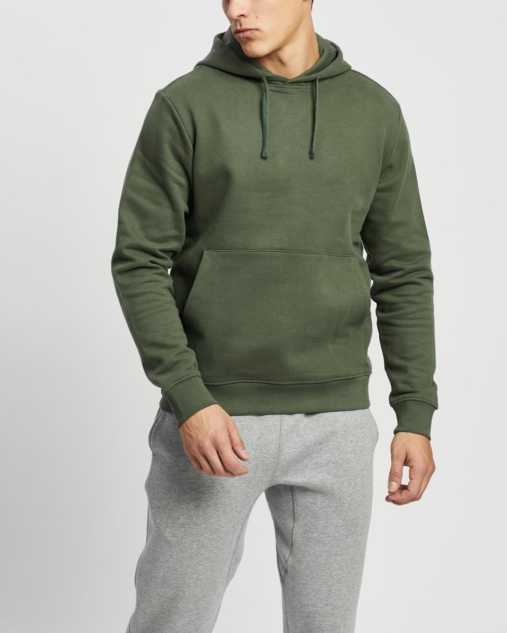 AERE Organic Cotton Hoodie Hoodies Khaki