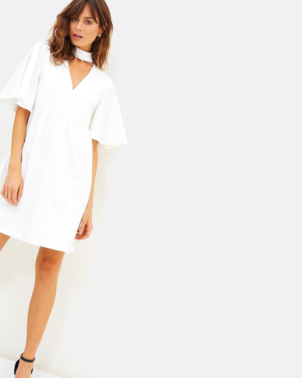 Friend of Audrey Summer Day Dress Dresses White Summer Day Dress
