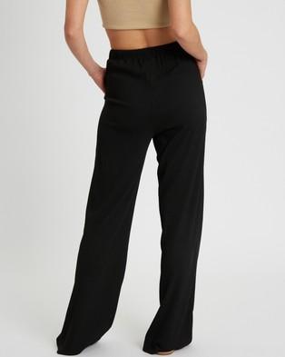 Calli Mia Ribbed Pants - Pants (Black)