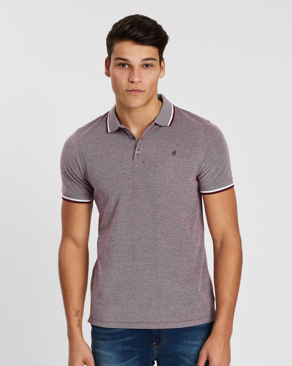 42f2a85c2af28 Two-Tone Polo Shirt by Burton Menswear Online | THE ICONIC | Australia