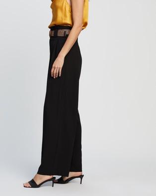 Forcast Hattie Wide Leg Trousers - Pants (Black)