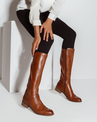 Easy Steps Alastair - Knee-High Boots (MID BROWN)