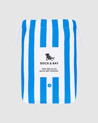 Dock & Bay Medium Poncho Adult 100% Recycled Cabana Collection - Pool Towels (Blue)