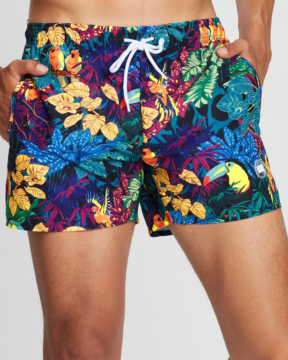 73322c444e Tropical Bird Printed Swim Shorts by Topman Online | THE ICONIC | Australia
