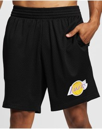 Mitchell & Ness - Basic Mesh Court Shorts - LA Lakers