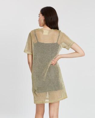 LENNI the label Solis Tee Dress - Dresses (Gold Chain)