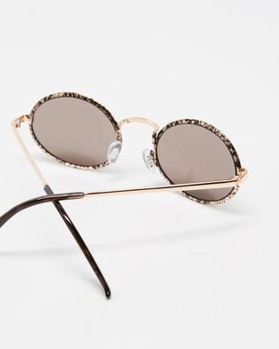 MINKPINK Slither - Sunglasses (Snake & Gold)
