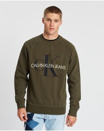 Calvin Klein Jeans - Washed Relaxed Monogram Crew Neck Sweater