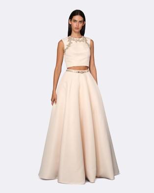 ROXCIIS – Priya Matte Satin Dress – Dresses (Nude)