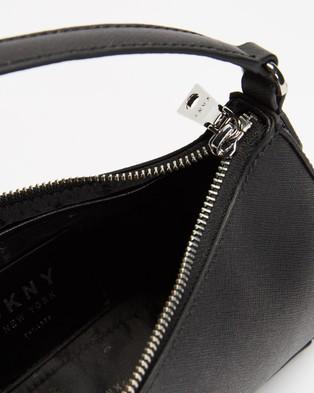 DKNY Carol Baguette Saffiano Bag - Handbags (Black & Silver)