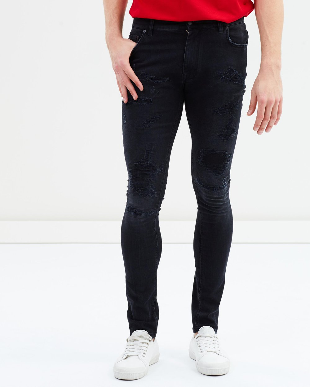 0e85cbdc Lewis Hamilton Distressed Jeans by Tommy Hilfiger Online | THE ICONIC |  Australia