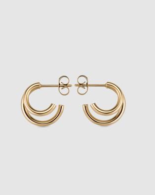Rosefield Double Hoop - Jewellery (Gold)