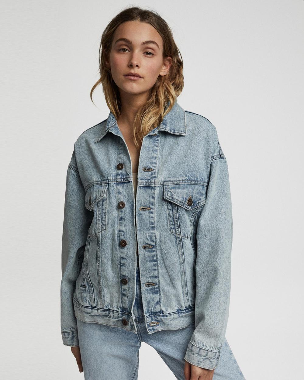Cotton On The Oversized Denim Jacket jacket Aireys Blue