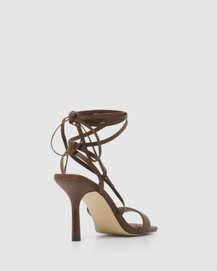 Forever New Violet Strappy Ankle Tie Stilettos - Heels (Chocolate)