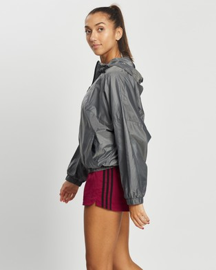 adidas Performance Glam On Windbreaker - Coats & Jackets (Black & Metallic Silver)