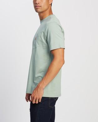 Carhartt SS Pocket T Shirt - T-Shirts & Singlets (Frosted Green)