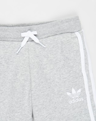 adidas Originals Fleece Shorts Kids Teens Medium Grey Heather & White Kids-Teens