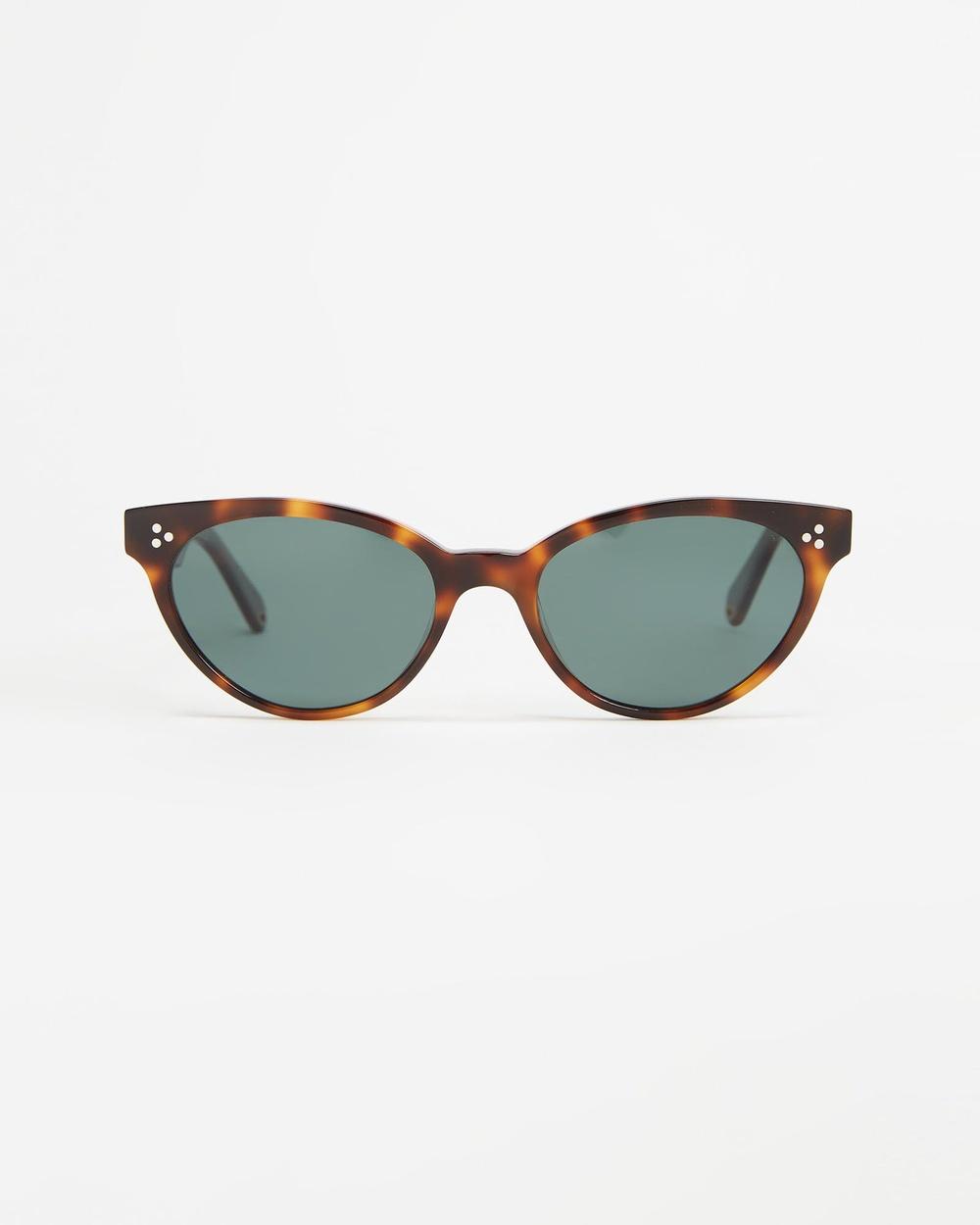 Pacifico Optical Francis Sunglasses Chocolate Havana & Green