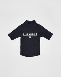 Billabong Kids - All Day Unity Short Sleeve Surf Shirt - Teen