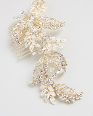 Ivory Knot Belle Hair Comb - Hair Accessories (Gold)