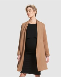Soon Maternity - Ivy Draped Coat