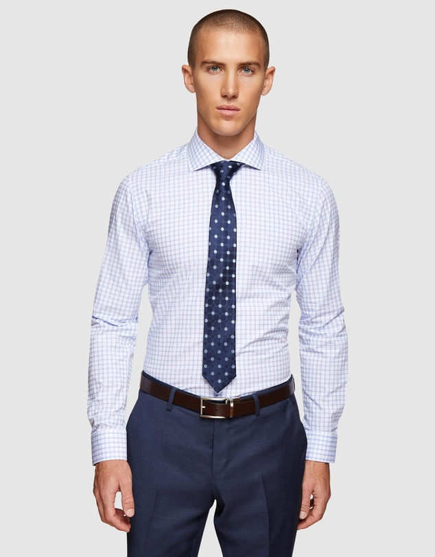 Oxford - Trafalgar Dobby Checked Shirt
