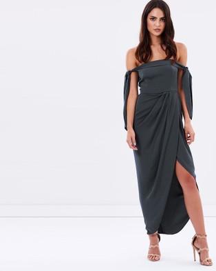 Shona Joy – Tie Shoulder Bustier Dress – Bridesmaid Dresses (Charcoal)