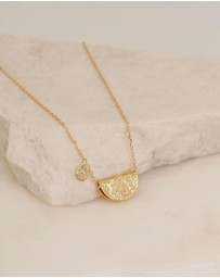 By Charlotte - June Love Deeply Gold Pendant Necklace