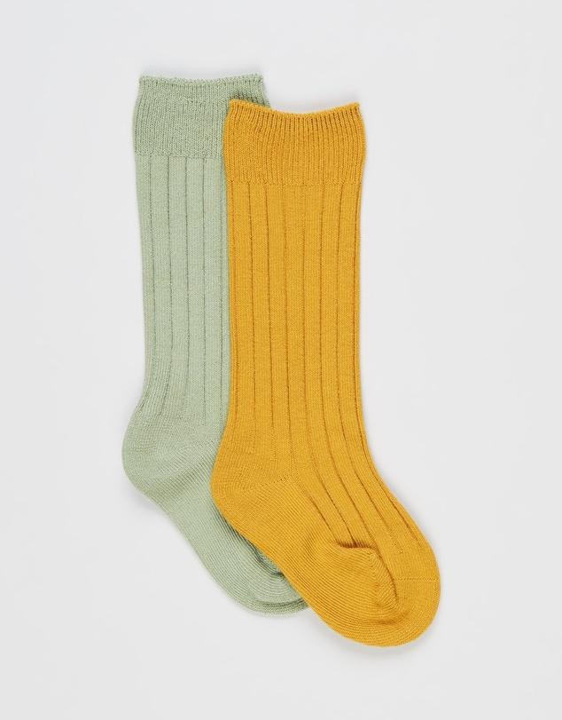 Kids Tedi Knee High Socks - 2 Pack