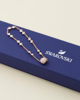 Swarovski Rose Gold Remix Collection Charm Bracelet - Jewellery (White & Rose Gold Plating)