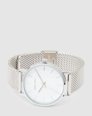 TONY+WILL Small Classic - Watches (SILVER / WHITE SILVER)