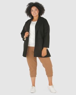Advocado Plus Juliana High Split Coat - Coats & Jackets (Black)