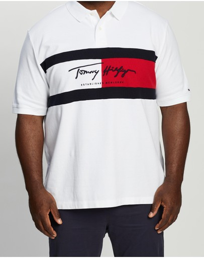Tommy Hilfiger - Plus Autograph Flag Polo