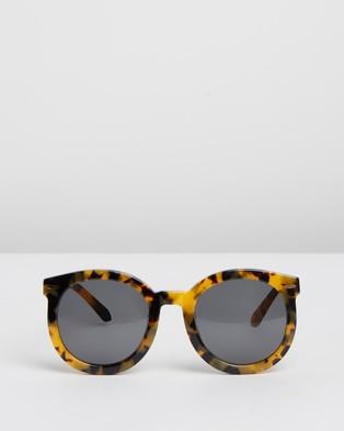 Karen Walker Alternative Fit Super Duper Strength - Sunglasses (Crazy Tort)