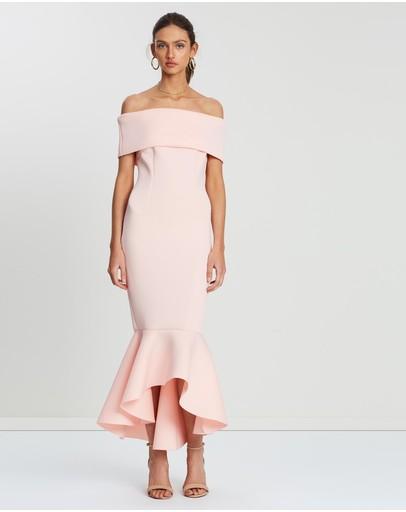 Loreta Avenue Scuba Dress Blush