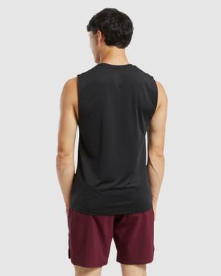Reebok Performance - ACTIVCHILL Sleeveless Tee - Long Sleeve T-Shirts (Black) ACTIVCHILL Sleeveless Tee